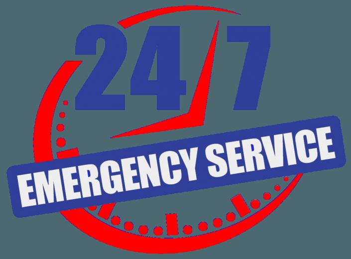24/7 service badge